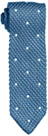 Dot Silk Knit Tie 118-23-2421: Blue