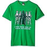 STAR WARS Tee, Green//Officially Licensed Holiday Cheer Men's el