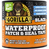 "Gorilla 4612502 Waterproof Patch & Seal Tape 4"" x 10' Black, 1-Pack"