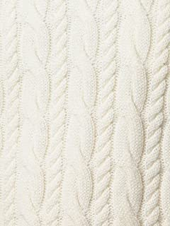 Wool Cable Crewneck Sweater 1213-105-3231: White