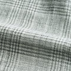 Water Linen Glen Plaid Jacket: Grey