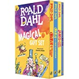 Roald Dahl Magical Gift Set (4 Books): Charlie and the Chocolate Factory, James and the Giant Peach, Fantastic Mr. Fox, Charl