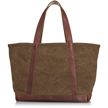 Aging Canvas Basic Tote: Tan