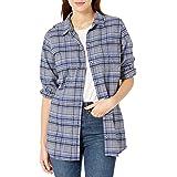 Goodthreads Amazon Brand Women's Heavyweight Flannel Oversized Boyfriend Shirt