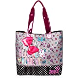 Nickelodeon JoJo Siwa Grey Tote Bag with Pink Removable Bow for Girls