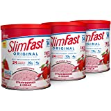 SlimFast, Strawberries N Cream Protein Shake Mix, 12.83 Ounce (Pack of 3)