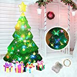 HOME COMPOSER Christmas Tree Decorations -46In Xmas Yard Stake Signs with String Lights- New Year Decor Outdoor Outside for L