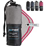 Journext Microfiber Towel for Beach, Travel, Hiking, Camping, Fitness, Backpacking, Ultra-Light, Anti-Bacterial, Quick Dry, S