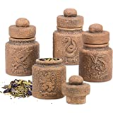 Harry Potter Ceramic Storage Jars with Hogwarts Houses, Set of 4 - Store Potions Ingredients, Herbs, Spices and More - with G