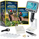 NATIONAL GEOGRAPHIC Digital Microscope for Kids – 40-Piece Handheld Microscope, Lightweight, Portable, Capture 1080p Photos &