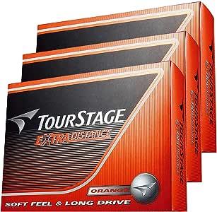 【3ダースセット】EXTRA DISTANCE ツアーステージ エクストラ ディスタンス ゴルフボール(36P)オレンジ