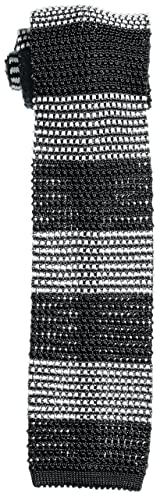 Stripe Silk Knit Tie 118-23-2422: Grey