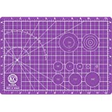 """KC GLOBAL A4 (13""""x9"""") Professional Grade Self-Healing Cutting Mat (Purple) - Odor-Free, Double-Sided, Eco-Friendly, Non-Slip,"""