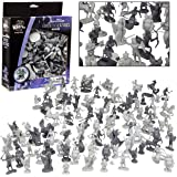 SCS Direct Fantasy Creatures Action Figure Playset - 98pc Monster Battle Toy Collection (Includes Dragons, Wizards, Orcs, and