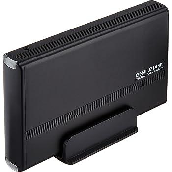 玄人志向 3.5型HDDケース IDE接続 USB2.0対応 マットブラック GW3.5AA-PU2/MB