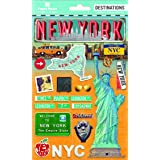 Paper House Productions Travel New York City 2D Stickers, 3-Pack