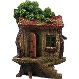 "PRETMANNS Fairy Garden House - Large Fairy Tree House with a Door That Opens - 9"" High - Fairy Garden Supplies"