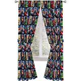 "Jay Franco Marvel Avengers Team 84"" inch Drapes 4 Piece Set - Beautiful Room Décor & Easy Set up - Window Curtains Include 2"