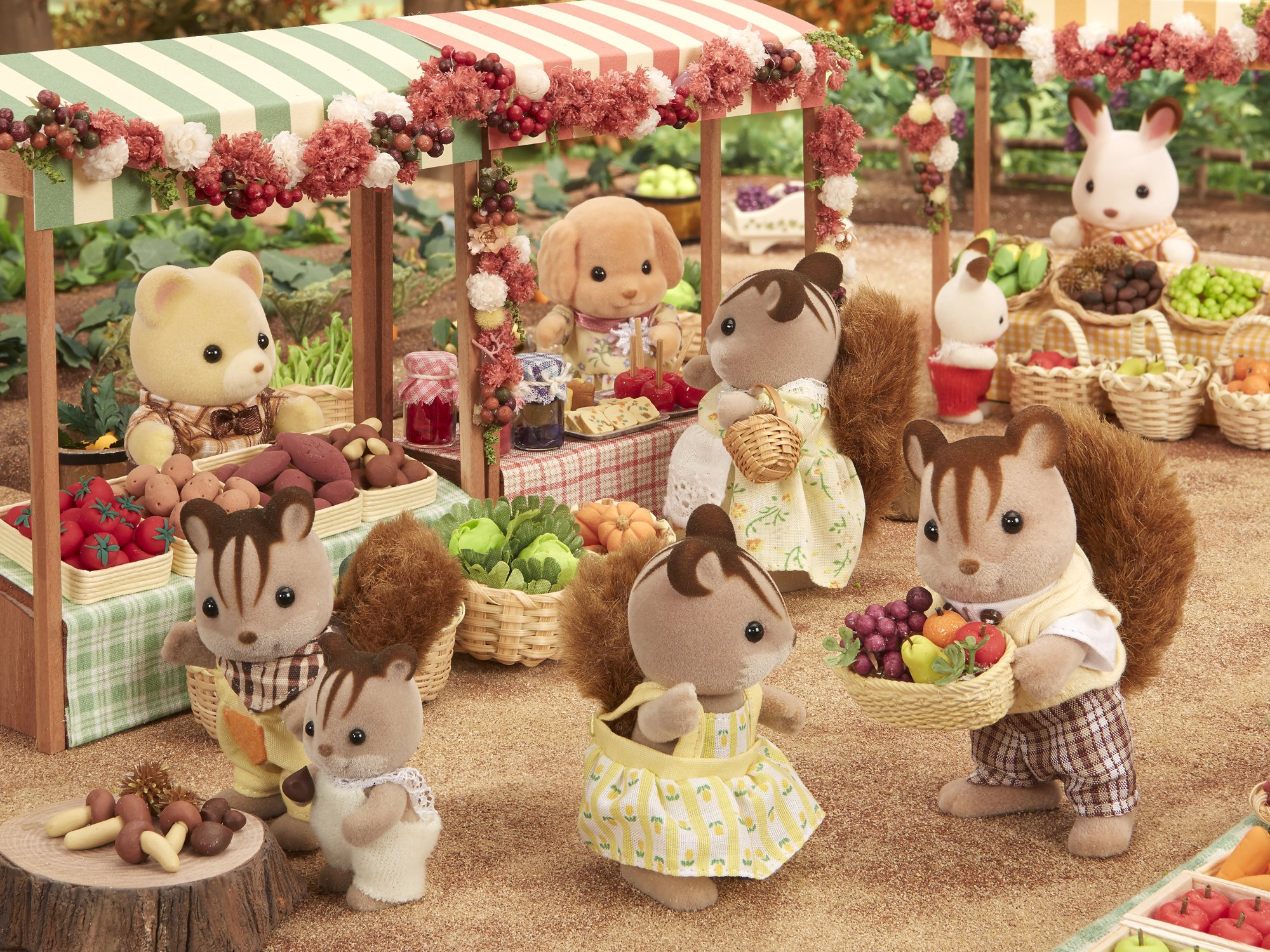 Every Need Want Day Sylvanian Families Walnut Squirrel Family Epoch Doll Fs 17 Of