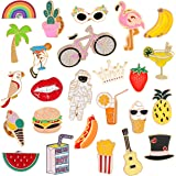EuTengHao 25 Pieces Cute Enamel Lapel Pin Set Cartoon Brooch Pin Badges Brooch Pins for Clothing Bags Jackets Accessories Sup