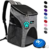 PetAmi Premium Pet Carrier Backpack for Small Cats and Dogs | Ventilated Design, Safety Strap, Buckle Support | Designed for