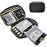 ProCase Travel Jewelry Bag, Soft Jewelry Organizer Case Box Carrying Pouch Storage Bag for Rings, Bracelet, Earring Organizer
