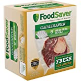 """FoodSaver GameSaver 8"""" x 20' Vacuum Seal Long Roll with BPA-Free Multilayer Construction, 6 Pack"""