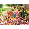 Buffalo Games - Adorable Animals - Picnic Raiders - 300 Large Piece Jigsaw Puzzle