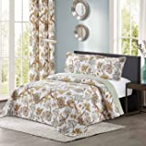 All American Collection New 4pc Printed Modern Geometric Curtain Set for The Bedspread Coverlet Set (Curtain Set) (Over-Sizes