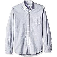 [Amazon Essentials] スリムフィット 長袖 無地 オックスフォードシャツ メンズ