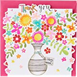 Rachel Ellen Thank You Card, Vase of Flowers - Thank You, 1 Count