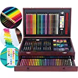 Art 101 53142MB 142-Piece Wood Art Set Cherry