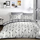 Fusion - Giraffe - Easy Care Duvet Cover Set - Single Bed Size in Charcoal