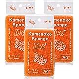 亀の子スポンジDo 角型 オレンジ 3個セット