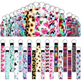 54 Pieces Empty Travel Bottles with Keychain Holder Set Include 18 Portable 1 oz Refillable Travel Bottle Container with Flip