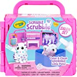 CRAYOLA 74-7304 Scribble Scrubbie, Portable Beauty Salon Pet Play Set, Perfect Gift for Kids, Includes 2 Pet Figurines; Colou