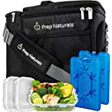Meal Prep Bag Meal Prep Lunch Box - Meal Prep Insulated Lunch Bag for Men - Meal Prep Cooler Bag with Containers - Insulated