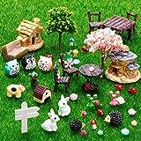 Skylety 64 Pieces Miniature Fairy Garden Accessories Mini Animals Miniature Ornament Kit Animal Figurines Animals Miniature M