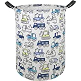 AYTG Canvas Large Clothes Basket Laundry Hamper with Handles,Waterproof Cotton Storage Organizer Perfect for Kids Boys Girls