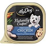 MY DOG Naturally Crafted Wet Dog Food Chicken 85g Tray, 14 Pack, Adult, Small/Medium