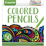 Crayola Colored Pencils, 50ct, Vibrant Colors, Pre-sharpened, Art Tools, great for Adult Coloring Books