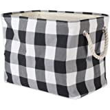 DII Polyester Storage Basket or Bin with Durable Cotton Handles, Home Organizer Solution for Office, Bedroom, Closet, Toys, L