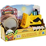 Play-Doh E4707 Wheels Mini Bulldozer Toy with 1 Can of Non-Toxic Play-Doh Stone Colored Buildin' Compound