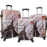 World Traveler Paris Collection 3-Piece Hardside Spinner Luggage Set