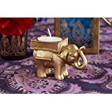 Kate Aspen Lucky Elephant Golden Tealight Holder