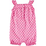 Carter's Baby Girls' Multi Striped Snap up Cotton Romper