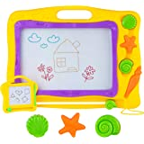 MegaToyBrand Magna Doodle Magnetic Drawing Board for Kids - The Manga drawing Board Features a Extra Large Writing Board with