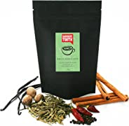 Savoury Tooth Matcha Masala Latte - Delicious Hot or Cold - Blend of Green Tea and Aromatic Spices - Natural and Organic - G
