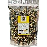 青いお茶 バタフライピー&レモングラス(ミックスドライ天然茶葉)『ハーブティー』 お得に大容量 200g 【無農薬栽培・天然乾燥・無添加】Butterflypea & Lemongrass ( Mix ) Herb Tea 200g