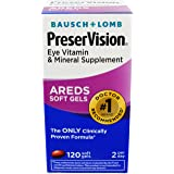PreserVision AREDS Eye Vitamin & Mineral Supplement, Contains Vitamin C, A, E, Zinc & Copper, 120 Softgels